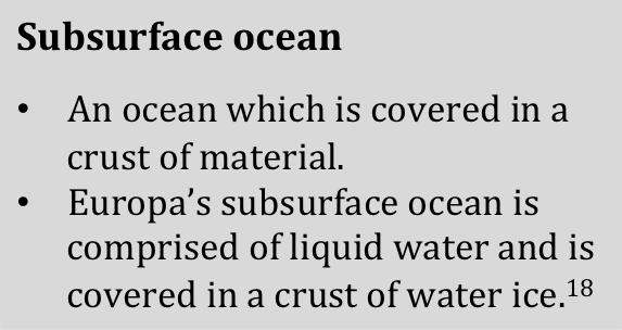subsurface ocean