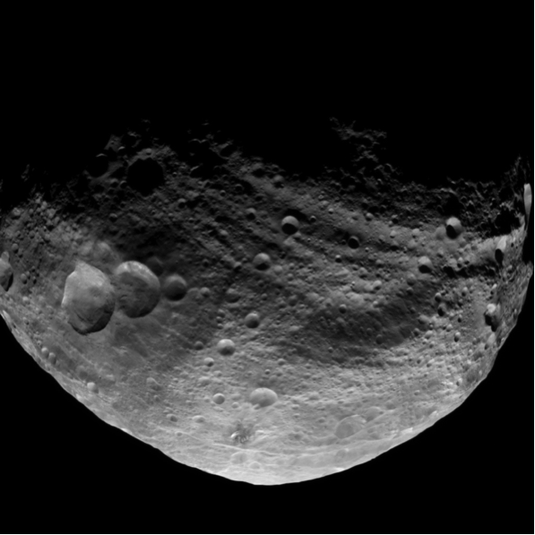 NASA's Dawn spacecraft obtained this image with its framing camera on July 23, 2011. It was taken from a distance of about 3,200 miles (5,200 kilometers) away from the giant asteroid Vesta.16 Credit: NASA