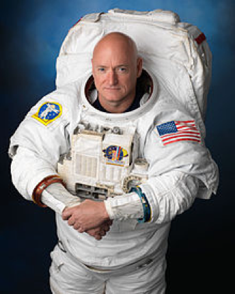 Scott Kelly, recently retired American astronaut and veteran of four space flights, the most recent consisting of 340 consecutive days living on the International Space Station, where he took numerous photographs of the Aurora Borealis as it appeared over North America. Courtesy of Wikimedia.