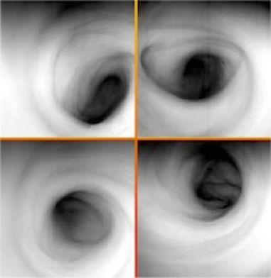 A set of images of the Venus south polar vortex in infrared light (at 3.8 microns) acquired by the Visible and Infrared Thermal Imaging Spectrometer instrument on ESA's Venus Express spacecraft. The images show the temperature of the cloud tops at about 65km (40.4 miles) altitude. Courtesy of ESA/VIRTIS/INAF-IASF/Obs. De Paris-LESIA