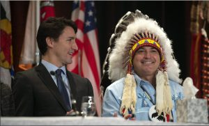 Prime Minister Justin Trudeau and AFN Chief Perry Belgarde
