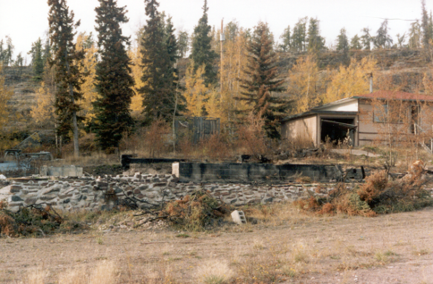 Figure 3-6: House foundation remaining after a fire.