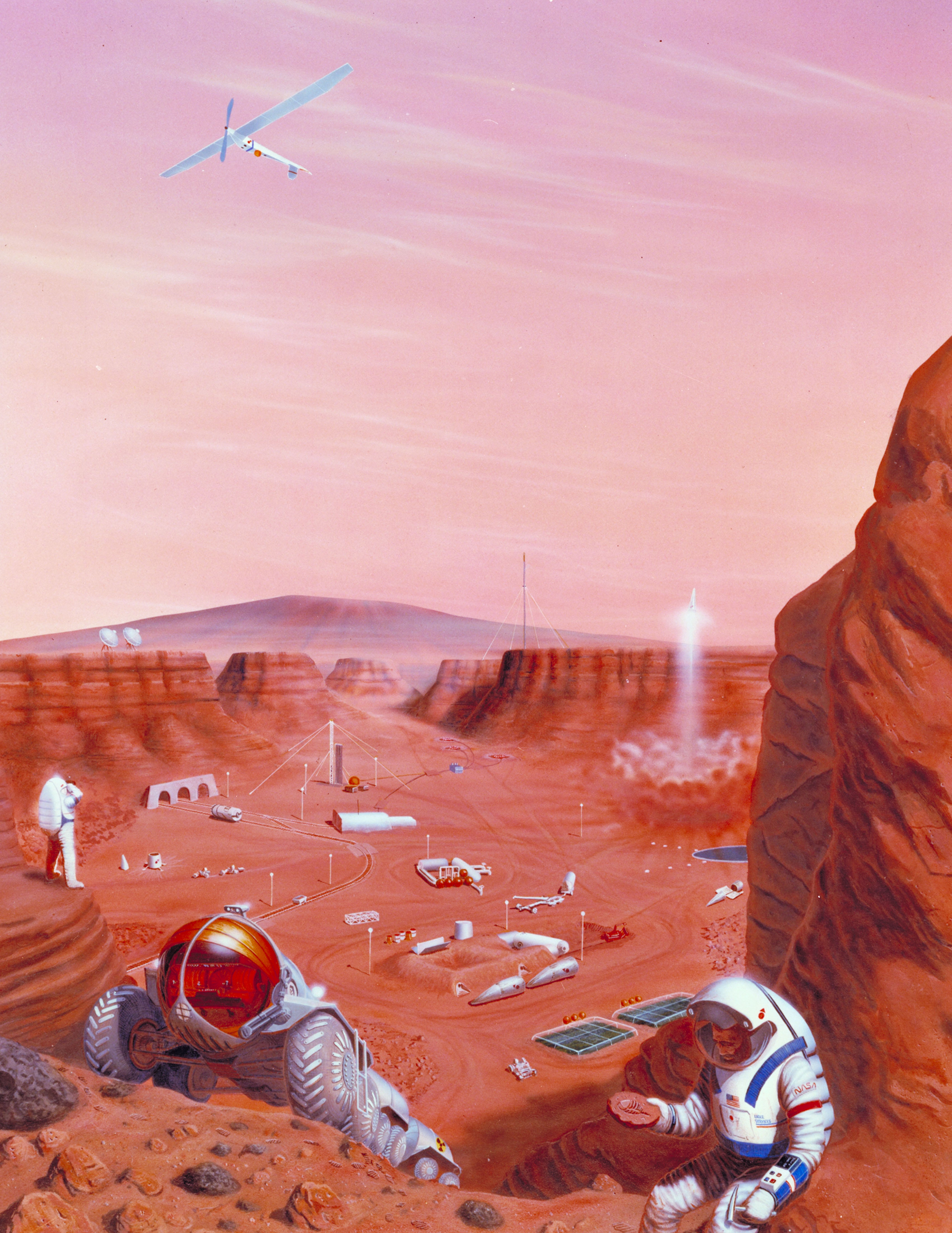 Figure 7: An artist's depiction of humans colonizing Mars. Credit: NASA.