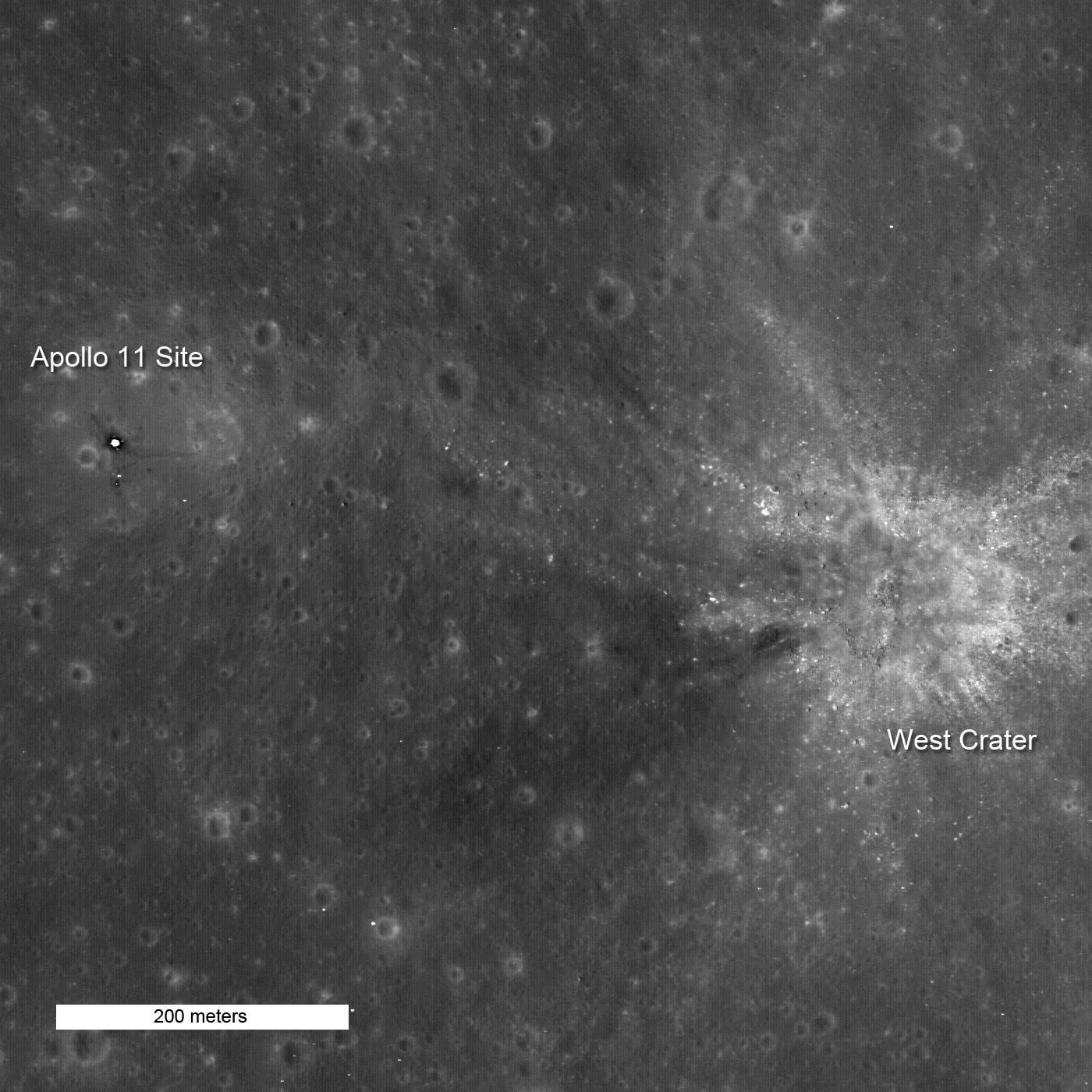 Apollo 11 Landing Site. Courtesy of NASA/GSFC/Arizona State University