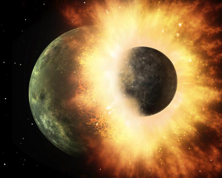 Scientists explain why moon rocks contain fewer volatiles than earth rocks. Courtesy of NASA/SERVI.