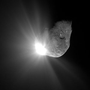 Photo from the Deep Impact Mission where a kinetic impactor was used to gather data about a comet. This would be the type of impactor proposed to divert NEOs. NASA