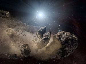 Artist's conception of a fragmented asteroid NASA/JPL-Caltech
