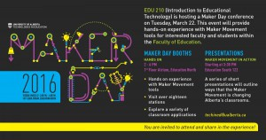 U of A Maker Day - March 22